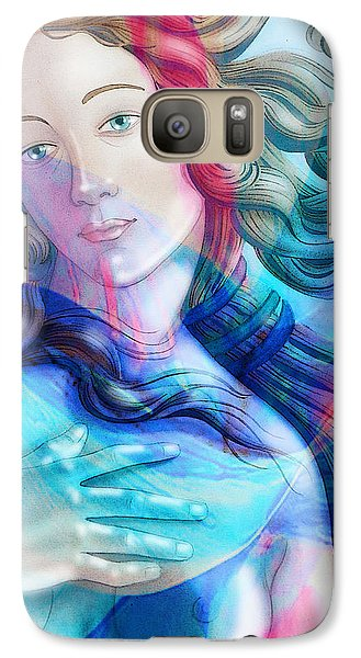 Galaxy Case featuring the painting Abstract Venus Birth 6 by J- J- Espinoza