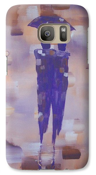 Galaxy Case featuring the painting Abstract Walk In The Rain by Raymond Doward