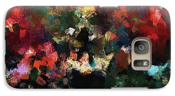 Galaxy Case featuring the painting Abstract Wall Art In Dark Colors by Ayse Deniz