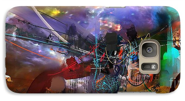 Galaxy Case featuring the painting Abstract Week 1 by Robert Anderson