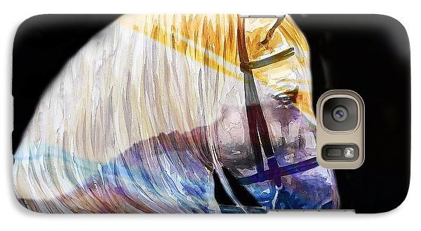 Galaxy Case featuring the painting Abstract White Horse 50 by J- J- Espinoza