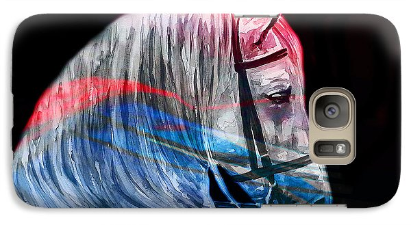 Galaxy Case featuring the painting Abstract White Horse 53 by J- J- Espinoza