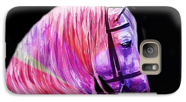 Galaxy Case featuring the painting Abstract White Horse 56 by J- J- Espinoza