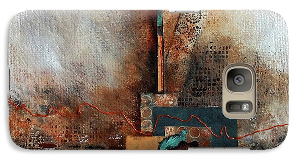 Galaxy Case featuring the painting Abstract With Stud Edge by Joanne Smoley