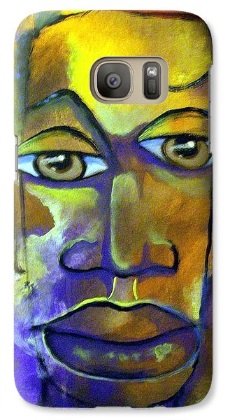 Galaxy Case featuring the painting Abstract Young Man by Raymond Doward