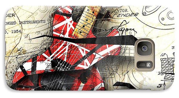 Abstracta 35 Eddie's Guitar Galaxy S7 Case by Gary Bodnar