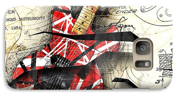 Abstracta 35 Eddie's Guitar Galaxy S7 Case by Gary Bodnar