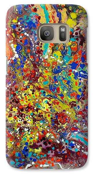 Galaxy Case featuring the painting Abstracted Person Playing by Polly Castor