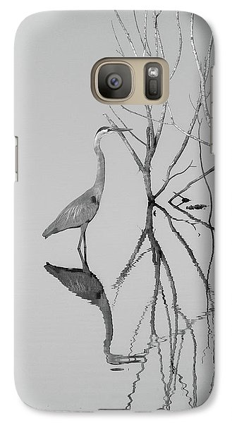 Galaxy Case featuring the photograph Abstracts On The Lake by Carolyn Dalessandro