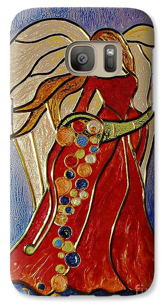 Galaxy Case featuring the mixed media Abundance Angel by AmaS Art