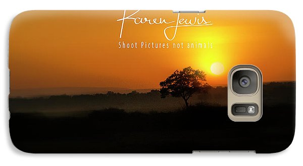 Galaxy Case featuring the photograph Acacia Tree Sunrise by Karen Lewis