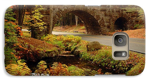 Galaxy Case featuring the photograph Acadia Stone Bridge by Alana Ranney