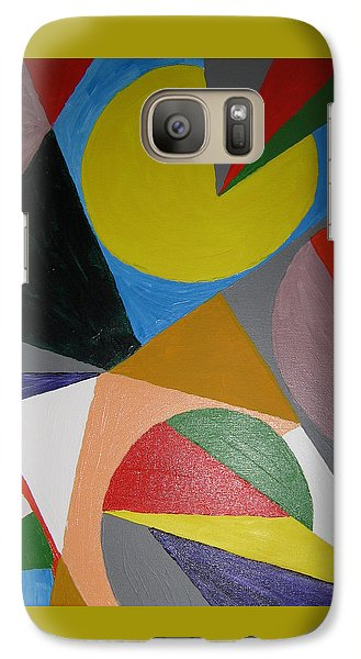Galaxy Case featuring the painting Accidental Pacman by Barbara Yearty