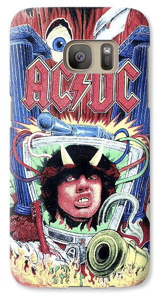 Galaxy Case featuring the digital art Acdc by Gina Dsgn