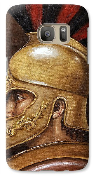 Galaxy Case featuring the painting Achilles by Arturas Slapsys