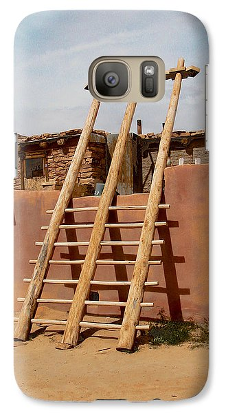 Galaxy Case featuring the photograph Acoma Ladder by R Thomas Berner