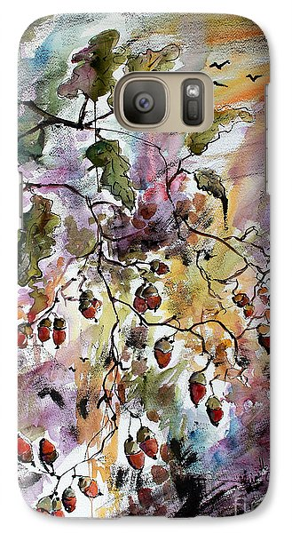 Galaxy Case featuring the painting Acorns Autumn Expression by Ginette Callaway