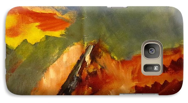 Galaxy Case featuring the painting Across The Divide by Patricia Cleasby