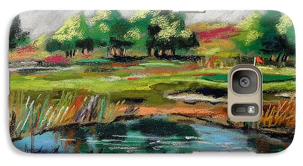 Galaxy Case featuring the painting Across The Water Hazard by John Williams