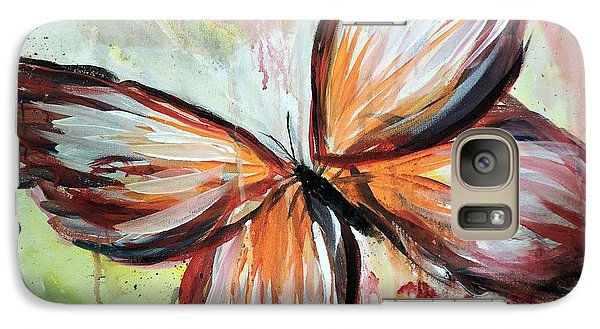 Galaxy Case featuring the painting Acrylic Butterfly by Tom Riggs