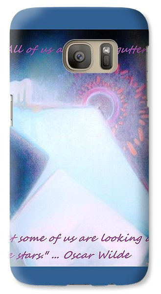 Galaxy Case featuring the painting Act Of Creation by Denise Fulmer