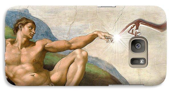 Galaxy Case featuring the digital art Adam's Creation Vrs Et by Gina Dsgn