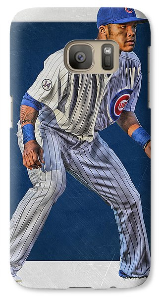Chicago Cubs Galaxy S7 Case - Addison Russell Chicago Cubs Art 2 by Joe Hamilton