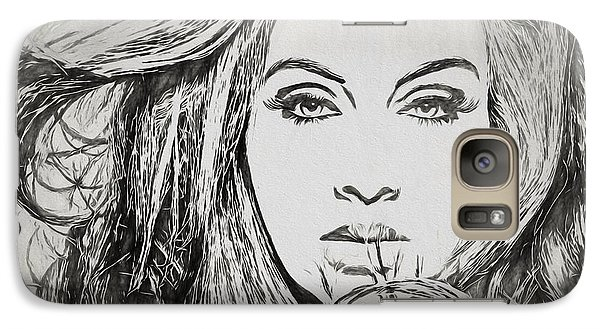 Adele Charcoal Sketch Galaxy S7 Case by Dan Sproul