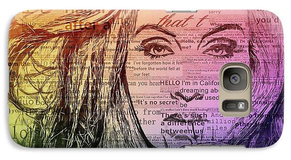 Adele Hello Typography  Galaxy S7 Case