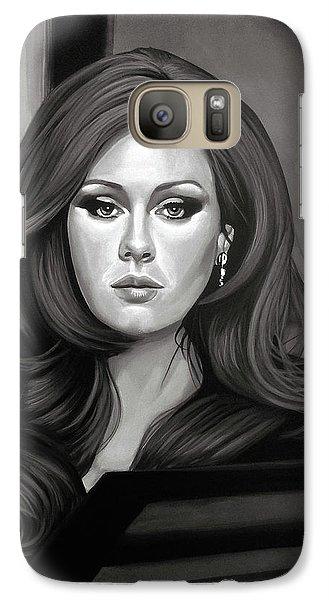 Adele Mixed Media Galaxy S7 Case by Paul Meijering