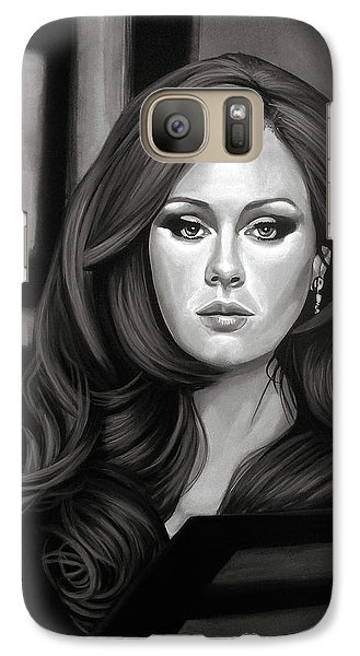 Rhythm And Blues Galaxy S7 Case - Adele Mixed Media by Paul Meijering