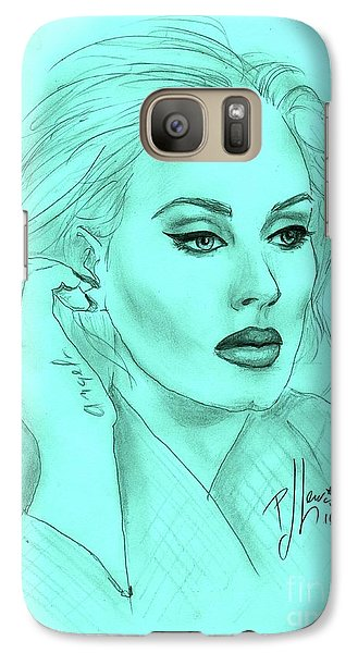 Adele Galaxy S7 Case by P J Lewis