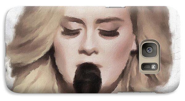 Adele Portrait Hello Galaxy Case by Yury Malkov