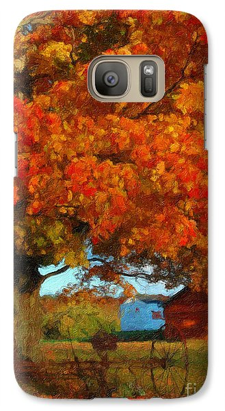 Galaxy Case featuring the painting Adirondack Autumn Color Brush by Diane E Berry