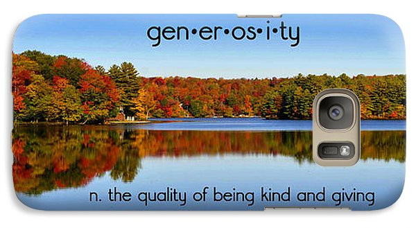 Galaxy Case featuring the photograph Adirondack October Generosity by Diane E Berry
