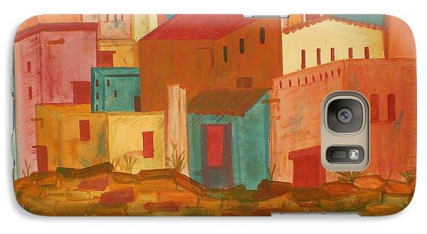 Galaxy Case featuring the painting Adobe Village by Judi Goodwin