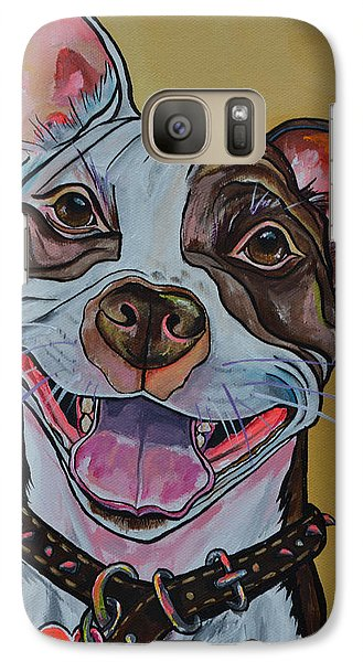 Galaxy Case featuring the painting Adopt A Pit Bull by Patti Schermerhorn