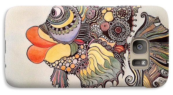 Galaxy Case featuring the drawing Adaptatus The Fish by Iya Carson
