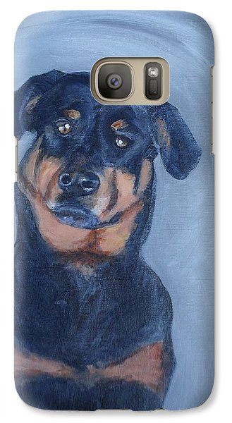 Galaxy Case featuring the painting Adrian by Donna Tuten