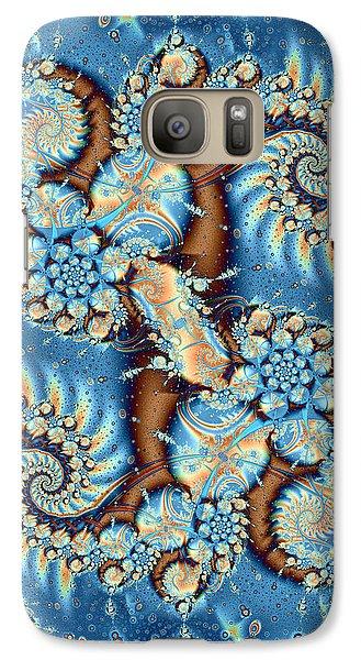Galaxy Case featuring the digital art Adrift by Richard Ortolano