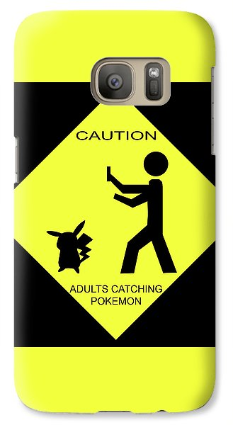 Galaxy Case featuring the digital art Adults Catching Pokemon 2 by Shane Bechler