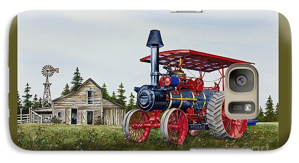 Galaxy Case featuring the painting Advance Rumely Steam Traction Engine by James Williamson