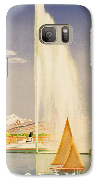 Boat Galaxy S7 Case - Advertisement For Travel To Geneva by Fehr