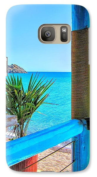 Galaxy Case featuring the photograph Aegean Blue by Andreas Thust