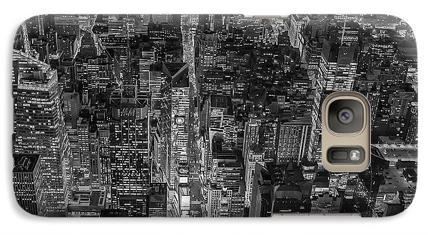 Aerial New York City 42nd Street Bw Galaxy Case by Susan Candelario