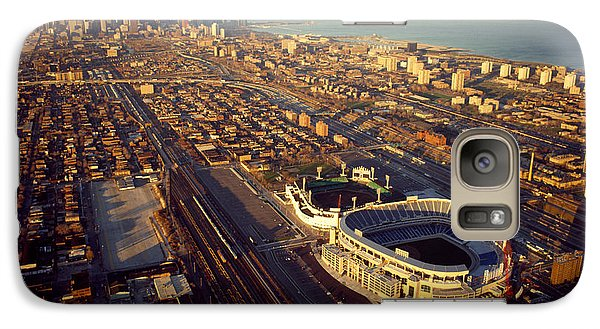 Soldier Field Galaxy S7 Case - Aerial View Of A City, Old Comiskey by Panoramic Images