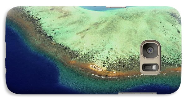 Galaxy Case featuring the photograph Aerial View Of Coral Reef Formation. Maldives by Jenny Rainbow