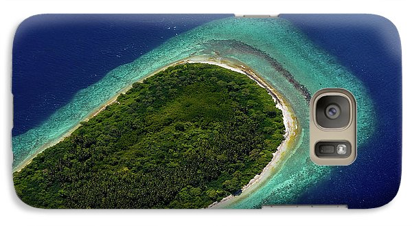 Galaxy Case featuring the photograph Aerial View Of Deserted Island. Maldives by Jenny Rainbow
