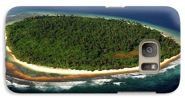Galaxy Case featuring the photograph Aerial View Of Deserted Maldivian Island by Jenny Rainbow