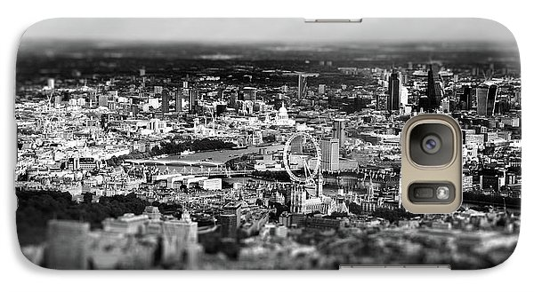 Aerial View Of London 6 Galaxy Case by Mark Rogan